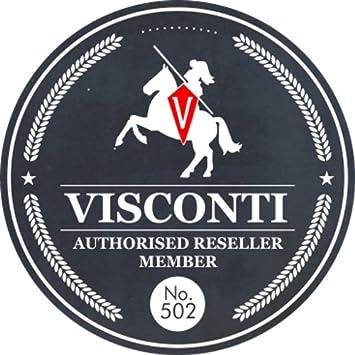 Visconti Colecci/ón Monza Monedero Bandeja para Monedas de Cuero de Curtido Vegetal para Hombre TRY5 Rojo
