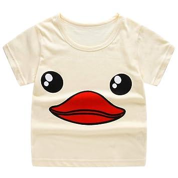 8153b2aa109a Cute Summer Shorts Tops For Children Kids Baby Girls Boys Cartoon Print T-shirt  Tee
