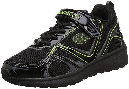 Heelys Boys' Rise X2 Tennis Shoe, Black/Charcoal/Bright Yellow, 1 Medium US Little Kid (X2 Skate Shoes)