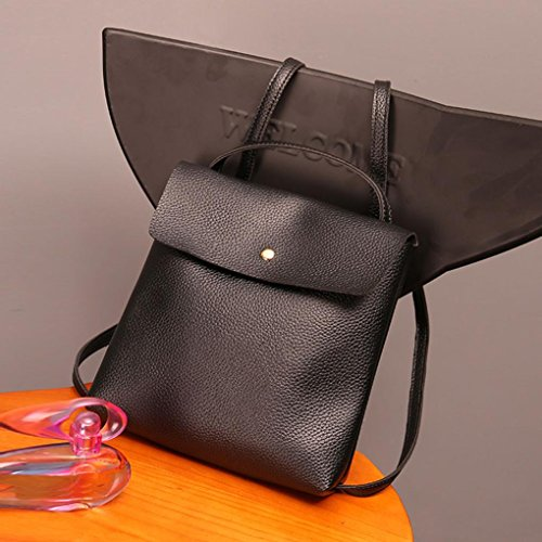 School Leather Travel Rucksack Bag Womens Purse Black Backpack Bags Satchel Fashion Inkach xXURpqwI