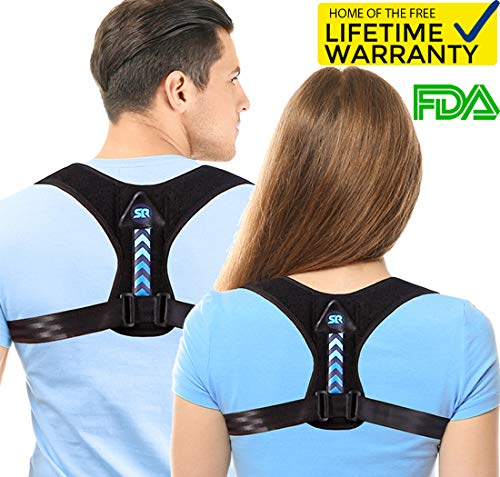 (Updated 2019 Version Perfect Adjustable Posture Corrector for Men and Women - Upper Back Brace for Clavicle Support and Providing Pain Relief from Neck Shoulder Upright Straightener)