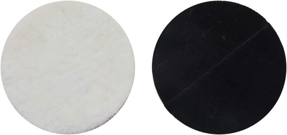 ZXHAO 7 Wool Polishing Pad Soft Sheepskin Buffing Pads 4pcs