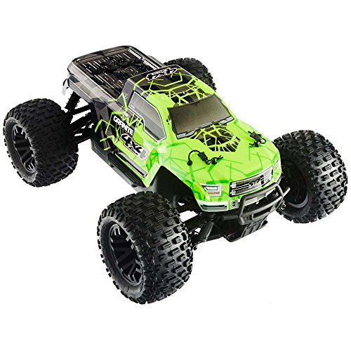 ARRMA Granite 4X4 MEGA 4WD RC Monster Truck RTR with 2.4GHz Radio | ESC | 7C 8.4V 2400Mah NiMH Battery | 1:10 Scale (Green/Black)