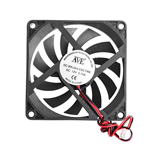 Price comparison product image SCASTOE 80x80x10mm 2-Pin 12V PC Computer CPU System Heatsink Brushless Cooling Fan 8010