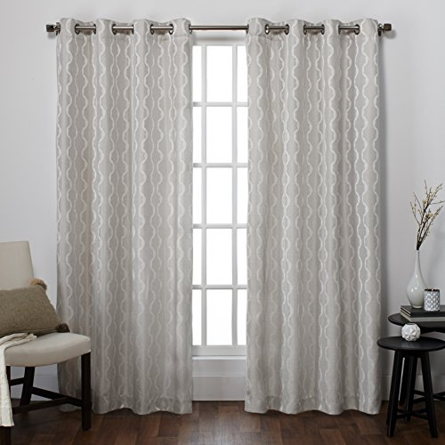 exclusive-home-eh8050-01-2-108g-baroque-textured-linen-look-jacquard-grommet-top-window-curtain-pane