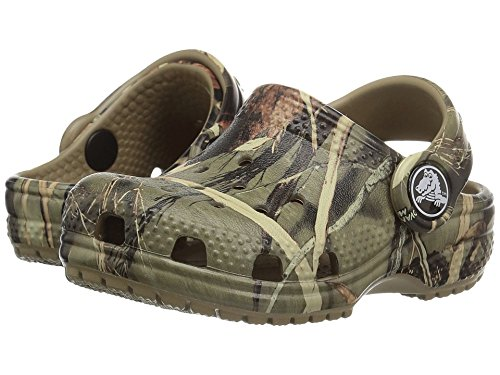 Crocs Kids' Classic Realtree Clog | Slip On Water Shoe for Toddlers, Boys, Girls, Khaki, 11 M US Little Kid