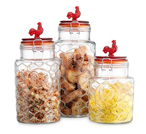 rooster-canisters-set-of-three-3-round-clear-glass-hermetic-sealed-airtight-with-locking-clamps-kitc