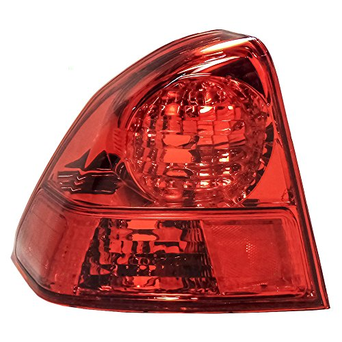Drivers Taillight Quarter Panel Mounted Tail Lamp Replacement for Honda ()