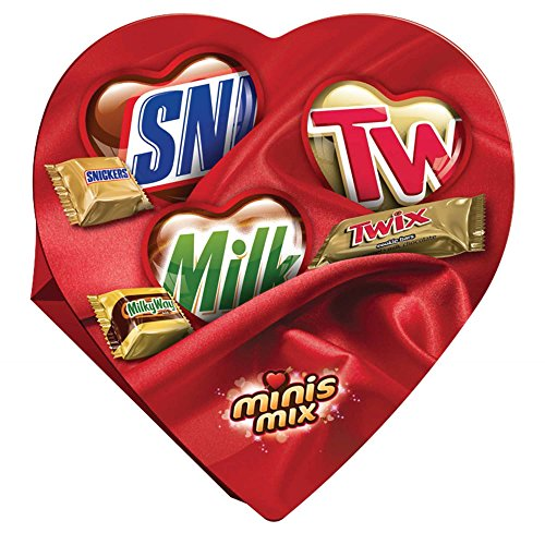 Mars Valentine's Candy Minis Mix Heart Gift Box, 7.7 Ounce