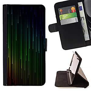 Momo Phone Case / Flip Funda de Cuero Case Cover - Vert Rouge Cyan Falling Stars - Samsung Galaxy S4 IV I9500