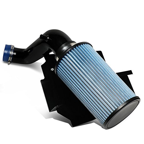 For 2002-2003 Jeep Liberty 3.7L V6 Aluminum Lightweight Hi-Flow Air Intake Kit w/Heat Shield+Blue - Hi Intake Flow Kit