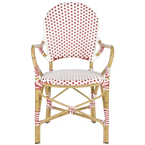 Safavieh Home Collection Hooper Red & White Indoor-Outdoor Stacking Arm Chair by Safavieh (Image #3)