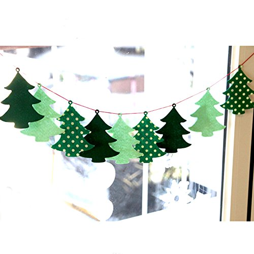 Christmas Party Decoration Christmas tree Fabric Felt Garland Hang String Banner (10ft)