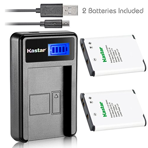 Kastar Battery + LCD Charger for Nikon EN-EL19 MH-66 Coolpix S100 S3200 S3300 S3400 S3500 S3600 S3700 S4100 S4200 S4300 S4400 S5200 S5300 S6400 S6500 S6600 S6700 S6800 S6900 S7000 Sony NP-BJ1 DSC-RX0