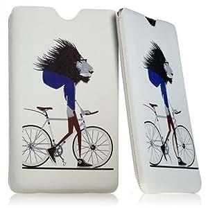 """Seluxion KJ01–Funda calcetín universal con diseño de León y bicicleta para Tablet Samsung Galaxy Tab 48"""""""