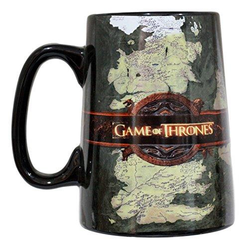 Ebros HBO Series Game Of Thrones Map Of Westeros And Essos Large Ceramic Mug 5.5