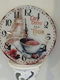 Coffee Themed Kitchen Decor Coffee in Paris cafe Themed Wall Clock, Shabby Chic,Beautiful Eiffel Tower and coffee cup design on the face of the dial..!