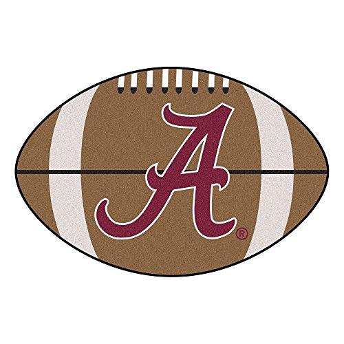 University of Alabama Football Area Rug (Football Shaped University Rug)