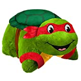 Nickelodeon Pillow Pets Teenage Mutant Ninja Turtles Stuffed Animal Plush Toy 16'', Raphael
