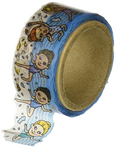 - Roundtop Designer's Washi Masking Tape 20mm x 5m, Tips Character Series 4, Synchronized Swimming (RT-MK-019)