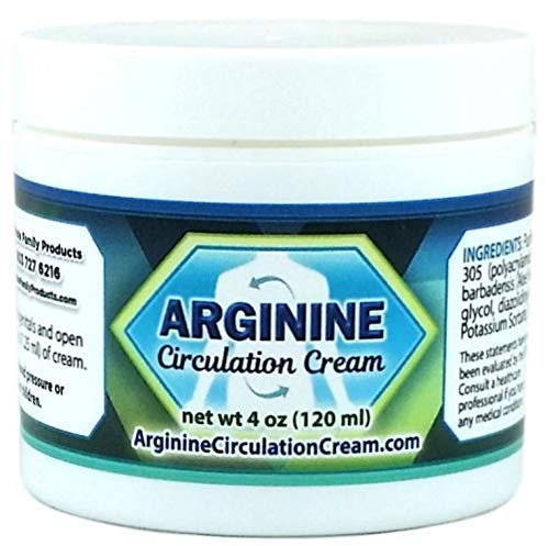 Arginine Circulation Cream - Menthol and L Arginine Blood Circulation Supplement - Supports Improved Blood Flow to Cold Hands and Cold Feet and Neuropathy Pain Relief (4 Ounces)