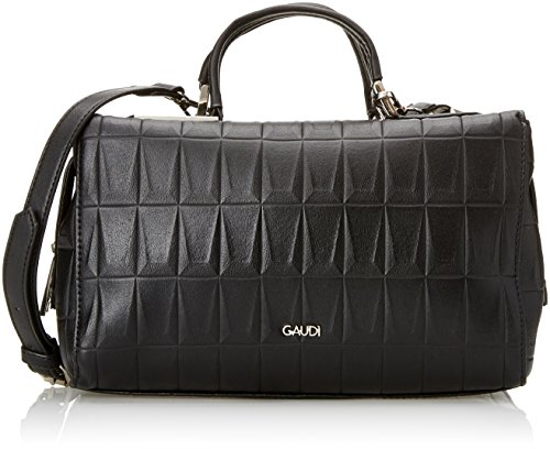 Gaudì V7ai-70589 Small Top Handle Bag-Linea Allison, Borsa a Mano Donna, Nero (Black), 27x17x15 cm (W x H x L)