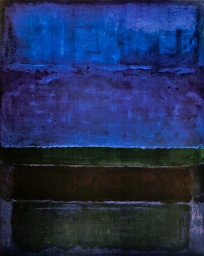 Berkin Arts Mark Rothko Giclee Canvas Print Paintings Poster Reproduction (Blue Green and Brown)