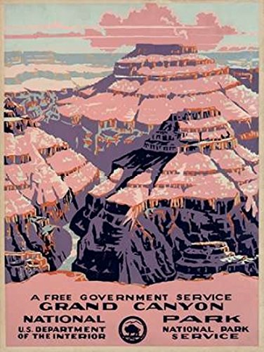 Grand Canyon National Park a Free Government Service ca 1938 Poster Print by WPA (18 x 24)