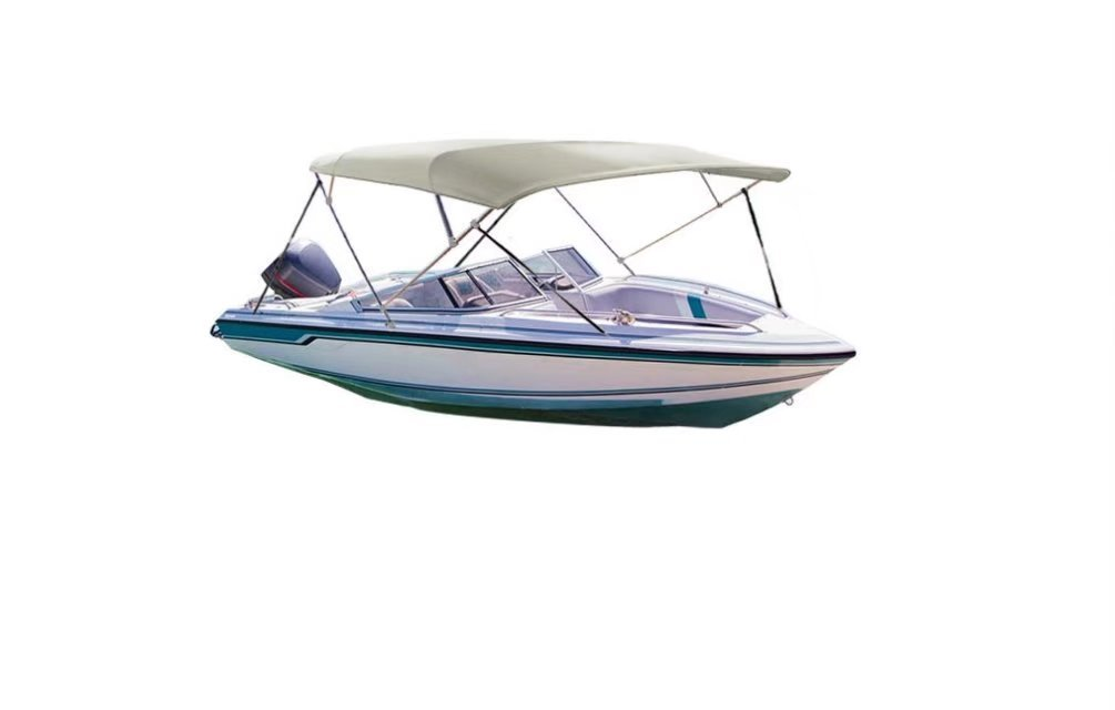 iCOVER Water Proof Four bow Bimini Top Canopy GRAY color fits boats with Beam Width of 78'' to 88'' BMT03 by iCOVER