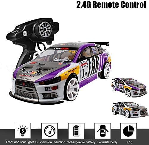 1:10 RC 70 km/h télécommande de Voiture 4WD Haute Puissance LED Phare Racing Truck Toys pour Enfants