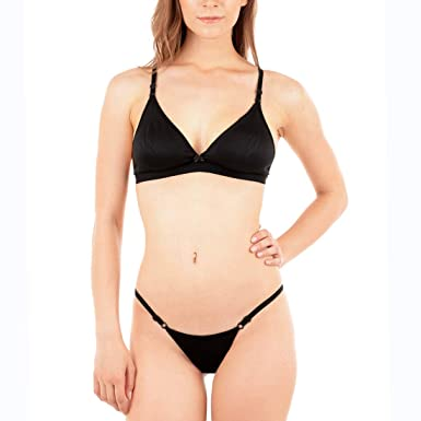 be1bb9642 Urbaano Dew Bra   Panty Set  Amazon.in  Clothing   Accessories