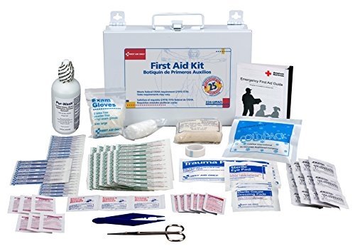 First Aid Only 25 Person First Aid Kit, Metal Case, 107 Pieces (Hanging People)