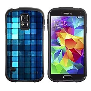 Paccase / Suave TPU GEL Caso Carcasa de Protección Funda para - Blue Pattern - Samsung Galaxy S5 SM-G900