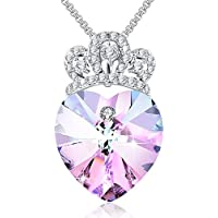 """Angelady""""Love Guardian Heart Pendant Necklace Crystal from Swarovski,Gift for Women Birthday Anniversary"""
