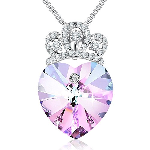 Angelady Gemstone Created Infinity Pendant Necklace Gifts for Women Girls Crystals from Swarovski (5) Young Girlfriend Birthday Graduation Gifts Necklace Party Queen Thanksgiving Mom Jwewlry Present