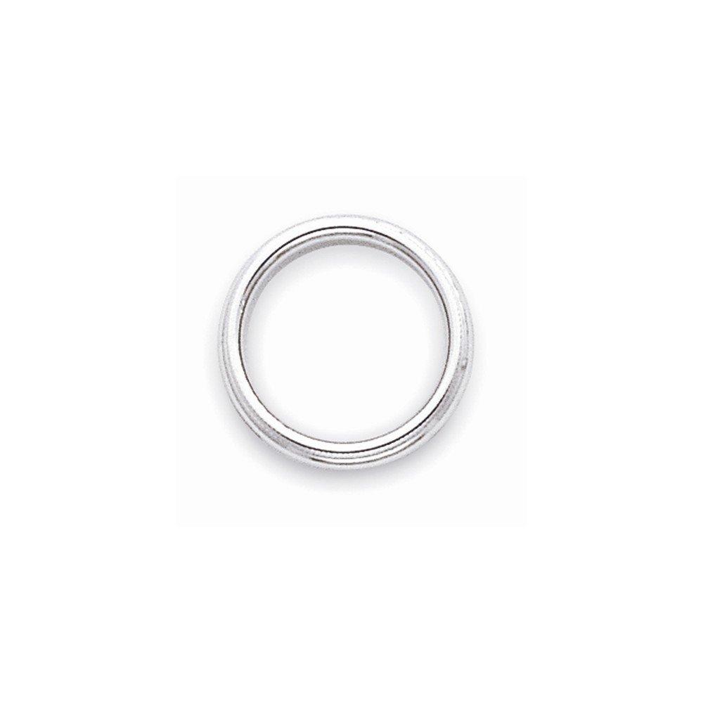 10K White Gold 3mm Milgrain Half Round Band Ring