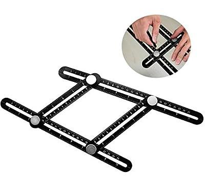 Angleizer template tool BEST Aluminum Multi-Angle Measuring Ruler IMPROVED Make perfect angles/shapes Flooring, Wood, Tiles, Bricks, Decks Crafts DIY-ers Handymen Craftsmen Remodelers Carpenters