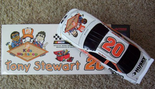 (2000 NASCAR Action Racing Collectables . . . Tony Stewart #20 The Home Depot Kids Workshop 1/24 Pontiac Grand Prix Diecast . . . Limited Edition 1 of 29,184)