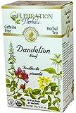 Celebration Herbals Organic Dandelion Leaf Tea Caffeine Free -- 24 Herbal Tea Bags