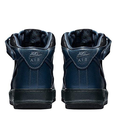 Nike W Air Force 1 '07 Mid Prm, Zapatillas de Deporte para Mujer Metallic Armory Navy/Metallic Armory Navy