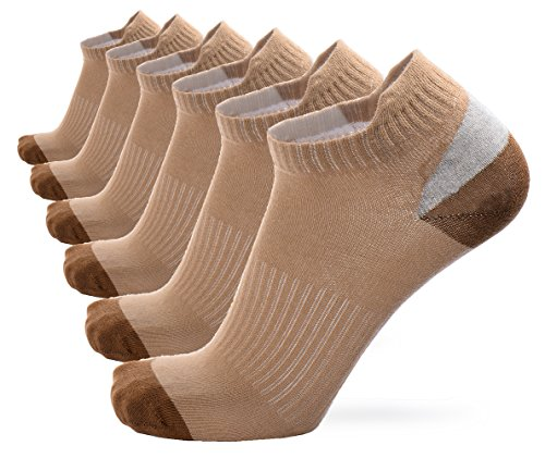 No Show Socks 6-Pack Size 5-11 For Men And Women Cotton