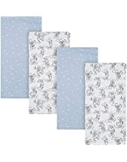 """Disney Baby Mickey Mouse 4-Pack Flannel Receiving Blankets, Blue, 30"""" x 30"""""""