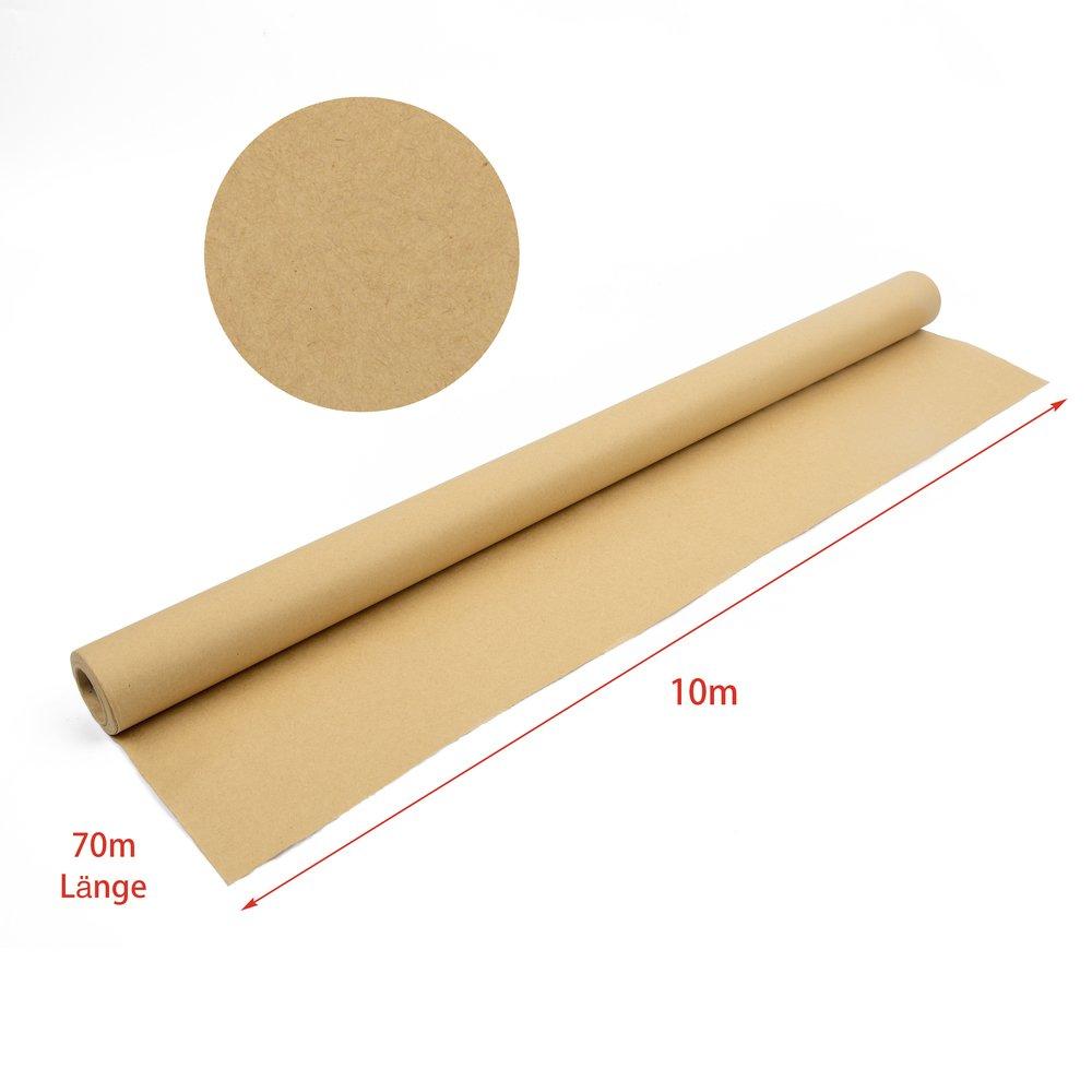 Rotolo di carta kraft, di alta qualità natura Papier, Carta da regalo vintage, 90G/MQ, 10meter di lunghezza, 70cm larghezza, liscio di alta qualità natura Papier 90G/MQ 10meter di lunghezza 70cm larghezza