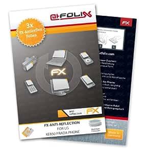 atFoliX FX-Antireflex non-reflectante Protector de pantalla para LG KE850 Prada Phone (3 unidades)