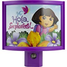 Dora The Explorer Nickelodeon Automatic Night Light - Purple