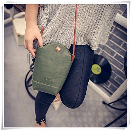PU Bucket Red JOSEKO Woman Little Bag Bag Irregular Bag Phone Green Crossbody Casual qqzPYd