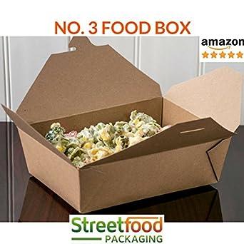Caja N.º 3 Caja de papel para almacenar comida para llevar, hecha ...