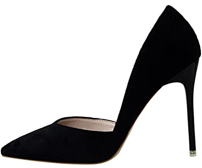 dd81c90059 BigTree D'Orsay High Heels Women Pointed Toe Court Shoes Elegant ...