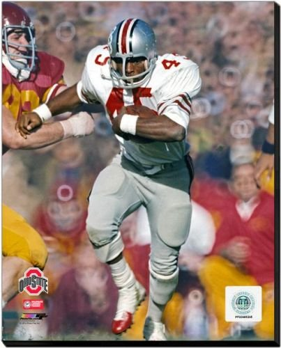 Ohio State Buckeyes Archie Griffin - 1973 Ohio State University Action 40x50 Stretched Canvas by Biggsports