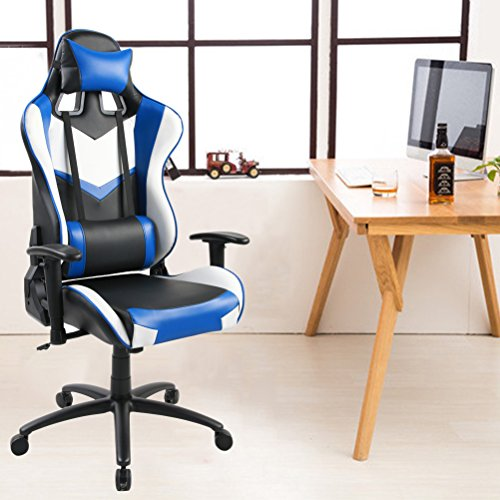 51cYpMYv8IL - Tongli-Video-Game-Chair-Adjustable-Height-Computer-Office-Recliner-Chair-with-Neck-Pillow-and-Lumbar-Support-Black-No-Footrest-Pad
